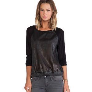C&C California Vegan Leather Sweatshirt
